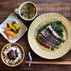 イワシの生姜煮と野菜いろいろ