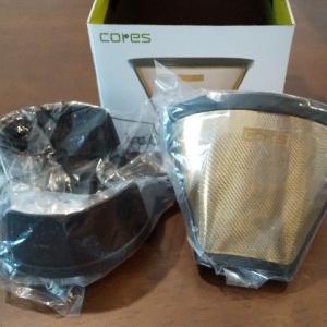 コレスのゴールドフィルター。ゴミが出なくて良いです。