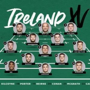 アイルランドがスコッド発表!vsSCO