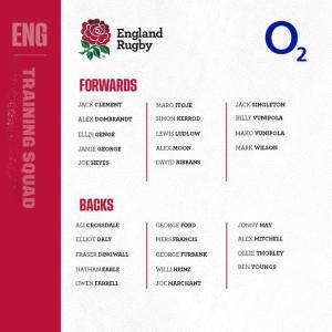 28人のイングランド代表スコッド