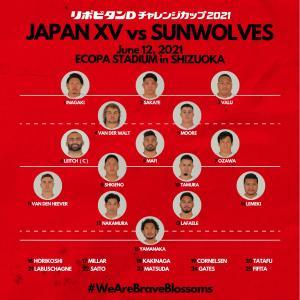 リポビタンDツアー2021、日本代表のスコッド