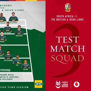 南アフリカ vs. B&Iライオンズ第3戦