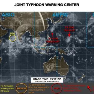 台風21号進路予想・米軍ヨーロッパ最新情報は?日本いつ上陸?