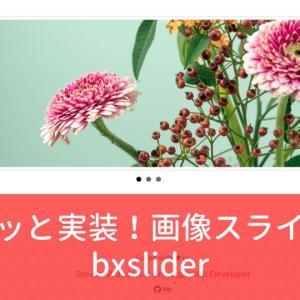 Blogger に画像スライダー 【 bxSlider 】 を実装する方法