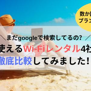 【海外へ行こう】現地で使える格安Wi-Fiレンタル4社の価格を徹底比較!ハワイ旅行が破格すぎてびっくりな件。まだgoogleで検索してるの?