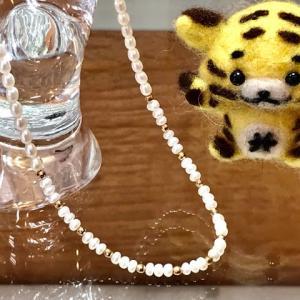 本日のお勧めはパールのネックレスです♪福岡の質屋ハルマチ原町質店