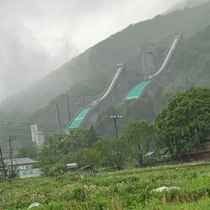 お誕生日旅行 ②白馬スキージャンプ台 ふなき〜