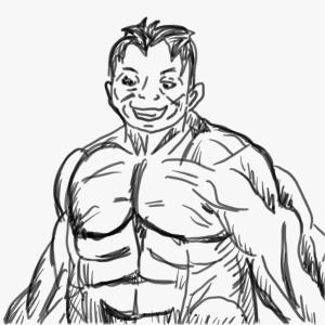 筋肉を描けるようになりたい1