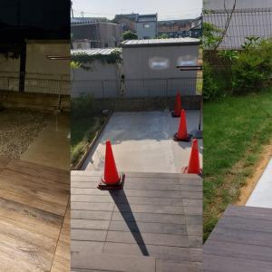 1年点検補修箇所 裏庭コンクリートの張り直し