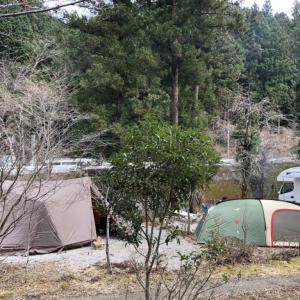 年末キャンプでハンバーガー in 清流の里ぬくみ