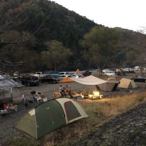 晩秋父子キャンプ in 桑野橋河川公園(朽木キャンプ場) その2