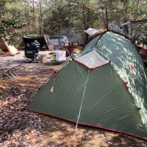 牡蠣キャンプinちいさな森キャンプ村(2020/2/23-24)