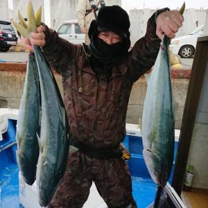 12月29日(日)メジロ〜寒鰤14本、寒ヒラメなどよく釣れました!!