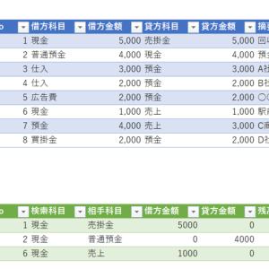 【パワークエリ】仕訳データから総勘定元帳を作る方法(後編)~仕訳データの変換、元帳の作成~