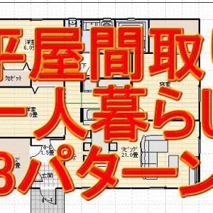 一人暮らしの平屋の間取り図