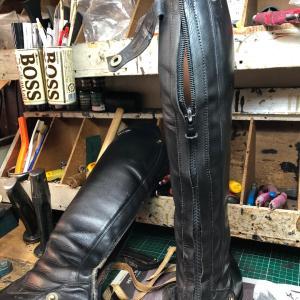 乗馬靴の修理-81  あした履きたいんです