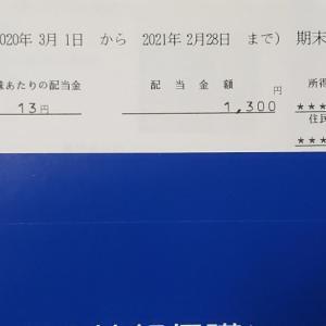 東京個別指導学院から配当金と株主優待案内