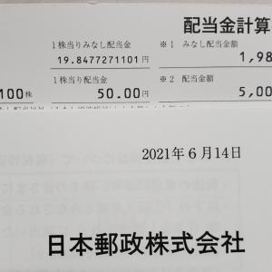 日本郵政から配当金