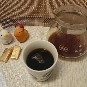 今回のコーヒーはブラジル(浅煎り)~お茶請けはチョコレート~