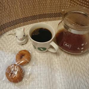 今回のコーヒーはブラジル(浅煎り)~お茶請けはドーナッツ~