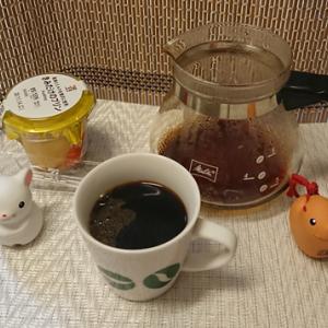 今回のコーヒーはブラジル(中煎り)~お茶請けはプリン~