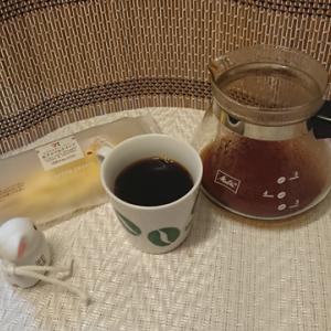 今回のコーヒーはコスタリカ(浅煎り)~お茶請けはクレープ~