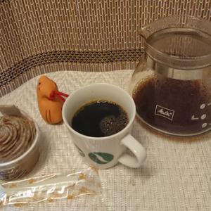 今回のコーヒーはブラジル(中煎り)~お茶請けはモンブラン~