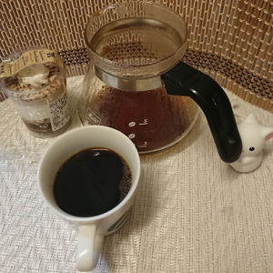 今回のコーヒーはブラジル(中煎り)~お茶請けはマロンショコラ~
