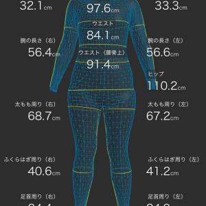 ZOZOスーツでサイズダウンを見える化٩(>ω<*)و