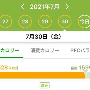 7月のダイエットまとめ……-0.8kg!!!