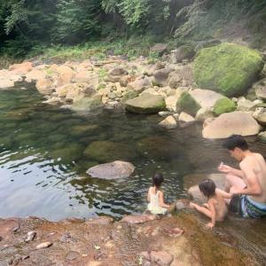 はじめての子連れキャンプ(尻焼温泉→野反湖キャンプ場→草津温泉)