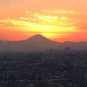 富士山の見える練馬区役所展望ロビー