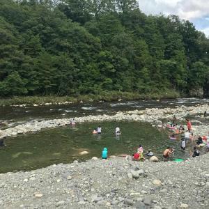 天然のプール