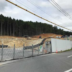 リニア新幹線中津川市落合瀬戸トンネル工事現場