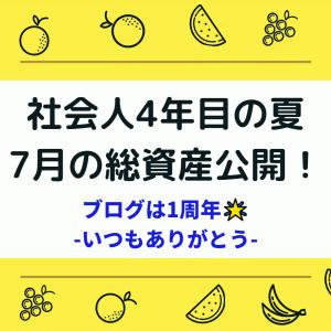 【資産公開】20年7月のnisaちゃんポートフォリオ実績