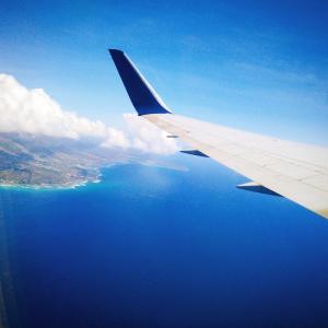 デルタ航空でホノルルまで。