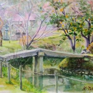 近水園の石橋