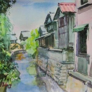 長浜 町中の水路
