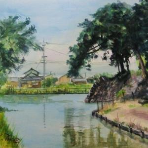 撫川城公園の堀垣