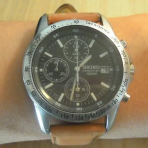 SEIKOのSND367PCという腕時計を革ベルトにしました