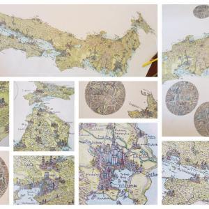 海外「これは商品化すべき!」ある外国人が手描きで製作する日本地図が魅力的過ぎる! 海外の反応