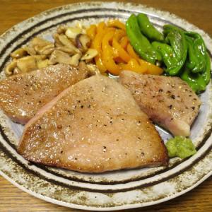 ◆黒毛和牛トモサンカクステーキ/本マグロの剥き身/ガツポン酢/野菜サラダ◆