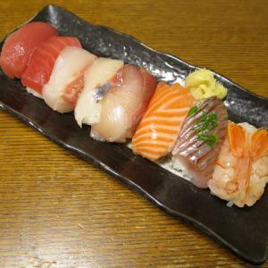 ◆上寿司/シマアジの刺身/イカリングフライ/野菜サラダ◆