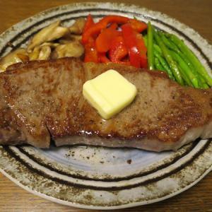 ◆黒毛和牛のサーロインステーキ/ホタテの刺身/糸もずく/野菜サラダ◆
