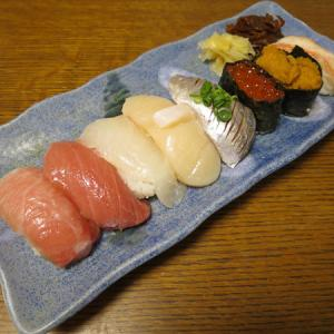 ◆特上寿司/つぶ貝の甘辛煮/ハマグリの吸い物/野菜サラダ◆