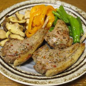 ◆ラムチョップステーキ/生ハム/がんもどき/野菜サラダ◆