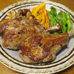 ◆ラムチョップステーキ/ホタテの刺身/クリームコロッケ/野菜サラダ◆