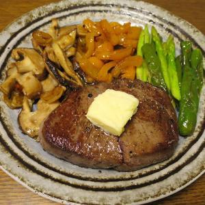 ◆黒毛和牛モモ肉ステーキ/スルメイカの刺身/きんぴらごぼう/野菜サラダ◆