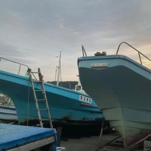 久里浜のウ ィ リ ー 五 目釣り。