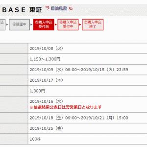 BASE(4477)IPO当落抽選結果